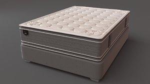 3D bed furnishing furniture model