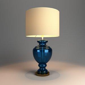 table lamp lights v-ray 3D model