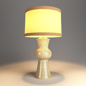 table lamp v-ray 3D model