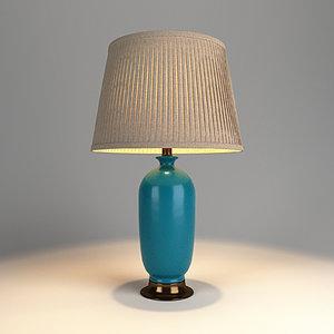 3D model table lamp lights v-ray