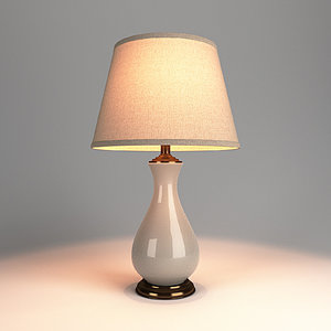 3D table lamp v-ray