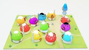 smurf village 3D