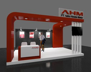 booth exhibition 3x5 3D model