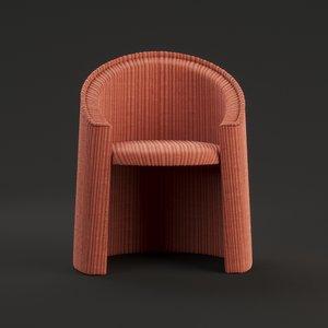 moroso husk small armchair 3D model