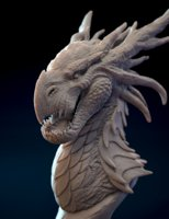 Dragon Bust 3D print