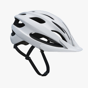 modern bicycle helmet generic 3D model