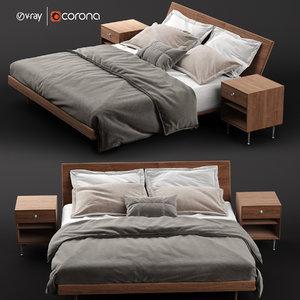 3D model nelson edge bed
