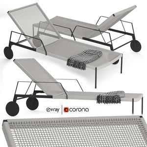 nodi chaise lounge 3D