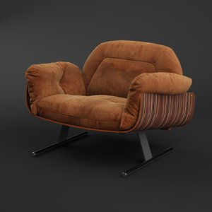 presidencial lounge armchair 3D model