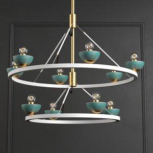 3D roseland ceiling light