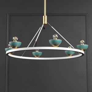 3D roseland ceiling light model