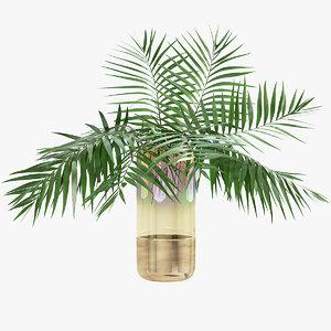 palm leaves 3D model
