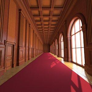 classic corridor interior model