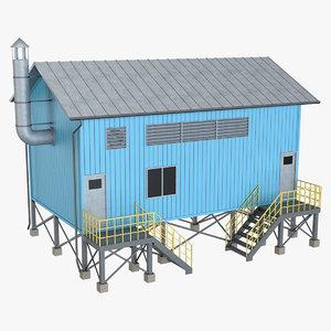 industrial building 17 3D