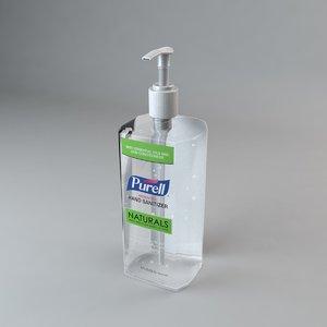purell hand sanitizer 20oz 3D model