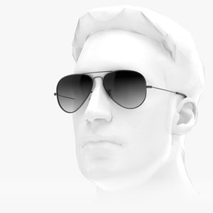 3D sunglasses - aviator classic model