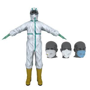 3D protective quipment model