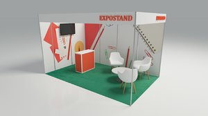 modular stand exhibitions 3D model