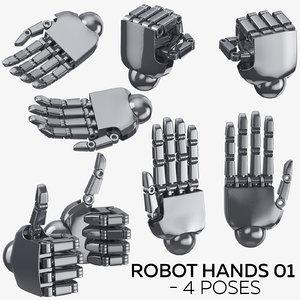 robot hands 01 - 3D model