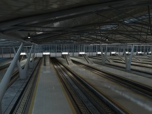 speed station railway 3D