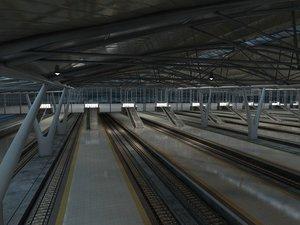 speed station railway 3D