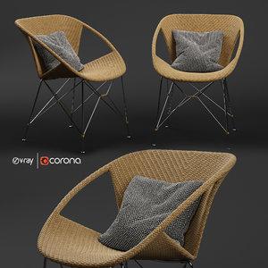 suki armchair 3D model