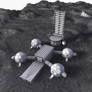 3D scene space base model