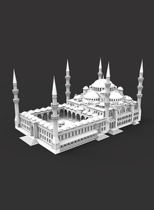 3D sultanahmet camii sultan model