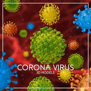 virus corona 3D model