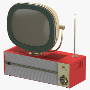 3D antique tv model