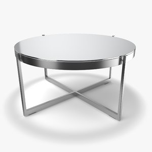 dune coffee table charcoal 3D model