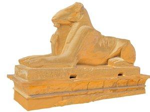 egypt ancient sculpture 3D model