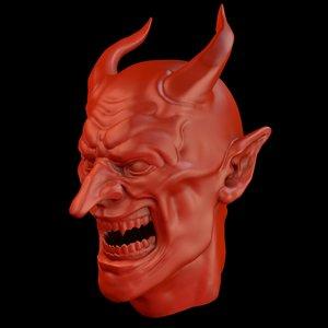 angry hell teeth 3D model