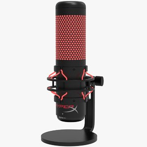 hyperx quadcast microphone 3D