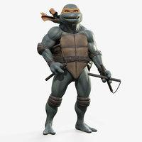 michelangelo teenage mutant ninja turtles model