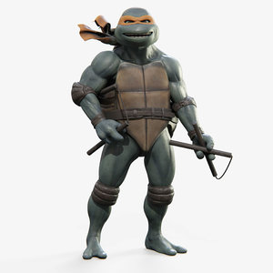 michelangelo teenage mutant ninja turtles model