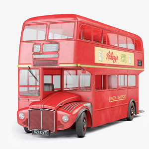 3D model london routemaster bus