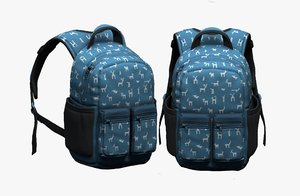 3D luggage fashion bag