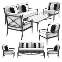 Restoration Hardware TROUSDALE sofa chair and coffee table