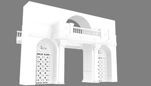 colonial gateway entrance 3D