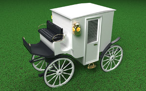 white lady carriage v2 3D