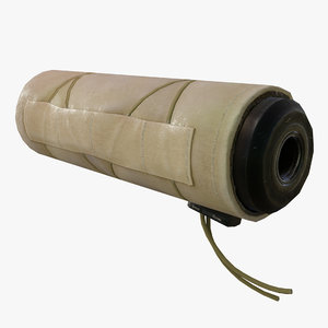 weapon silencer cover beige 3D model