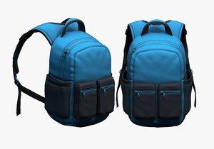 luggage fashion bag 3D model