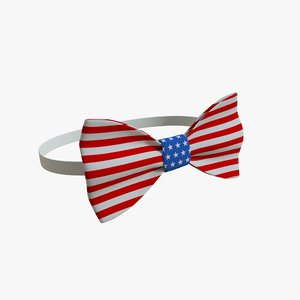 3D realistic bow tie 05 model