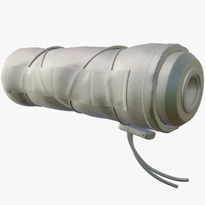 weapon silencer cover 3D model
