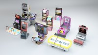 3D Arcade Machines Collection