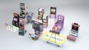 3D arcade machines basketball