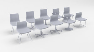 3D sumo deberenn chairs model