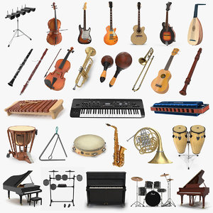 musical instruments 8 3D