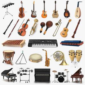 musical instruments 8 3D